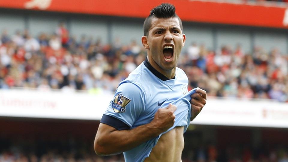 Ketajaman Aguero akan menjadi sorotan dalam laga Arsenal kontra City