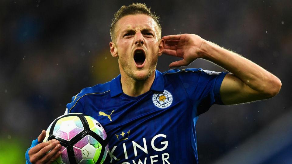 Jamie Vardy yang berhasil mencetak gol kedua bagi Leicester City