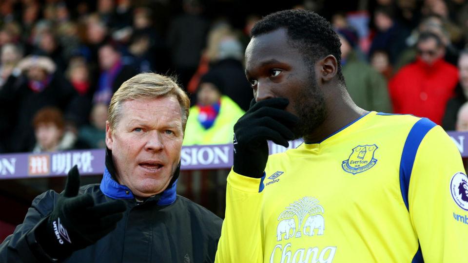 Ronald Koeman yang kembali mengandalkan Romelu Lukaku sebagai ujung tombak Everton
